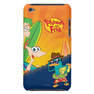 Phineas and Ferb Surfing Case-Mate iPod Touch Case
