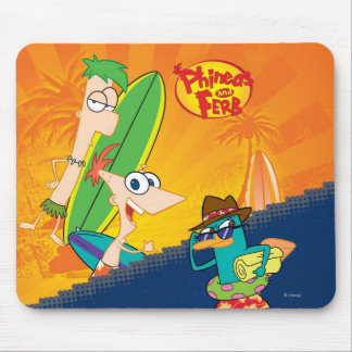 Phineas, Ferb and Agent P Surf Mousepads