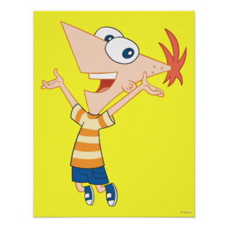 Phineas Jumping Poster