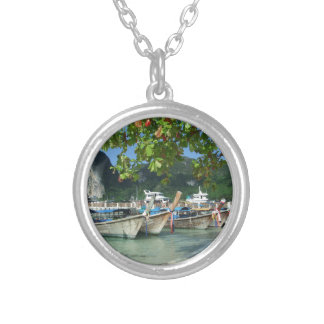 Phiphiisland_card Silver Plated Necklace