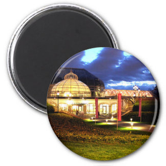 Phipps Conservatory at Night 2 Inch Round Magnet