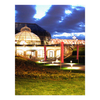 Phipps Conservatory at Night Personalized Letterhead