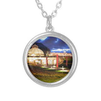 Phipps Conservatory at Night Silver Plated Necklace