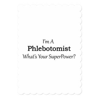 Phlebotomist Carton D'invitation 12,7 Cm X 17,78 Cm