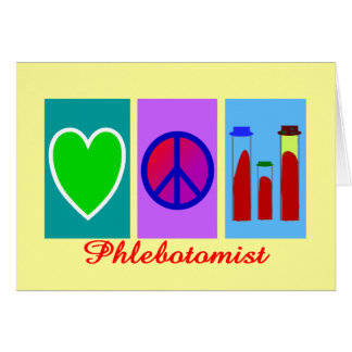 Phlebotomist Gifts Greeting Card