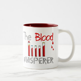 "Phlebotomist Gifts ""The Blood Whisperer"" Two-Tone Coffee Mug"