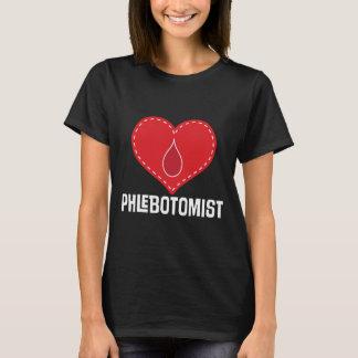 Phlebotomist Heart Job Gift T-shirt