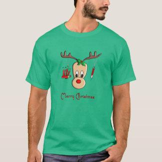 Phlebotomist Reindeer Christmas T-Shirt