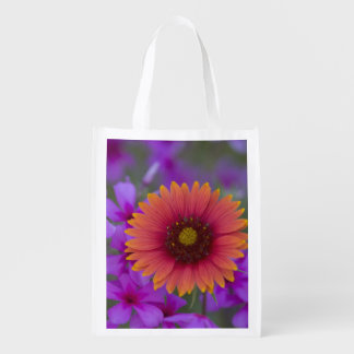 Phlox and Indian Blanket near Devine Texas Reusable Grocery Bags