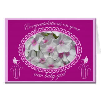 Phlox New Baby Girl Congratulations Card