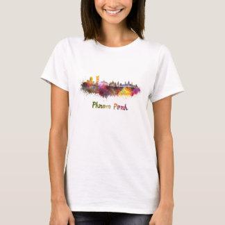 Phnom Penh skyline in watercolor T-Shirt