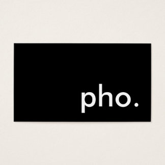 pho. business card