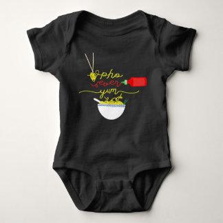 Pho Ever Yum Pho Bowl Hot Sauce BABY Jumper Baby Bodysuit
