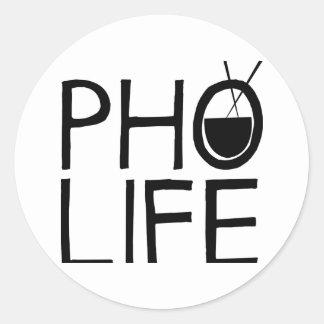 Pho Life Round Sticker