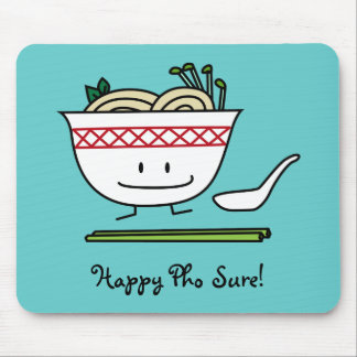 Pho Noodle Bowl Vietnam soup spoon chopsticks Mouse Pad
