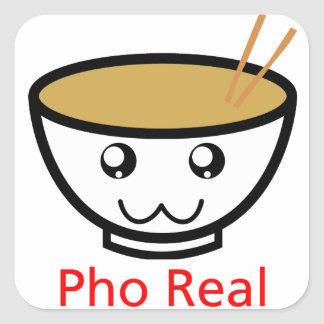 Pho Real Square Sticker