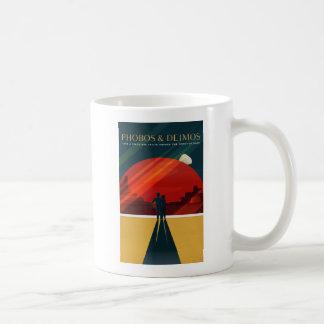 Phobos and Deimos Martian Moons Tourism Classic White Coffee Mug