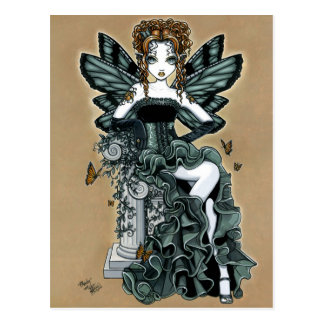 """Phoebe"" Gothic Couture Butterfly Fairy Postcard"