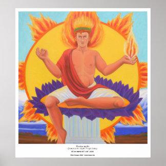 Phoebus Apollo - Seated on the Mystic Purple Lotus Poster