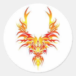 Phoenix ardent sticker rond