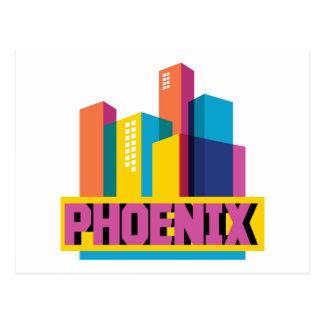 Phoenix, Arizona | Neon Skyline Postcard