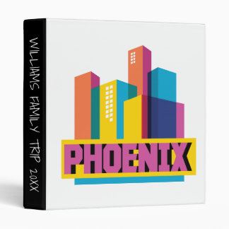 Phoenix, Arizona | Neon Skyline Vinyl Binder