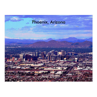 Phoenix, Arizona Skycape in Daytime Postcard