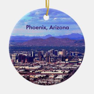 Phoenix, Arizona Skycape in Daytime Round Ceramic Ornament