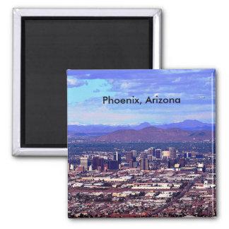 Phoenix, Arizona Skycape in Daytime Square Magnet
