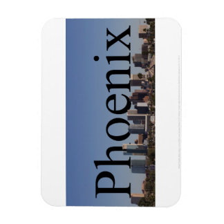Phoenix Arizona Skyline Magnet with Phoenix in the