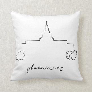 phoenix arizona temple simple modern sketch throw pillow