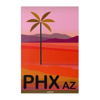 Phoenix, Arizona Vintage Travel Poster Acrylic Wall Art