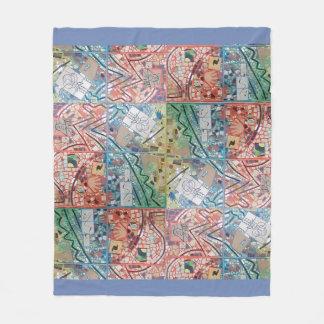 Phoenix Art Patchwork Mosaic Fleece Blanket