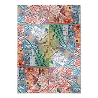 Phoenix Art Patchwork Mosaic Invitations