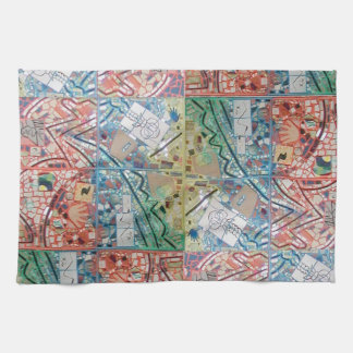 Phoenix Art Patchwork Mosaic Kitchen Towel