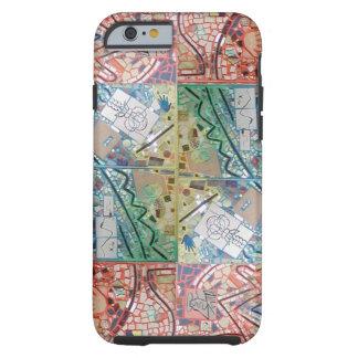 Phoenix Art Patchwork Mosaic Tough iPhone 6 Case