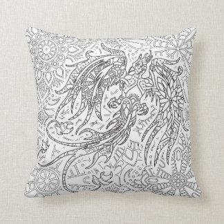 Phoenix Art Throw Pillow