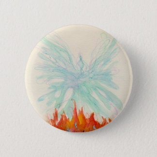 PHOENIX BIRD by SHARON SHARPE 2 Inch Round Button