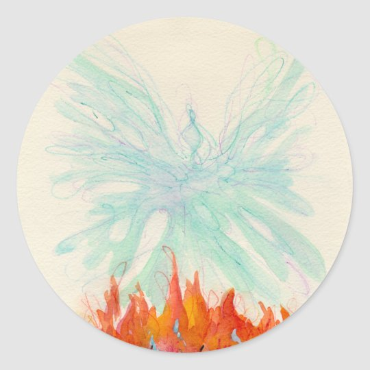 PHOENIX BIRD by SHARON SHARPE Classic Round Sticker