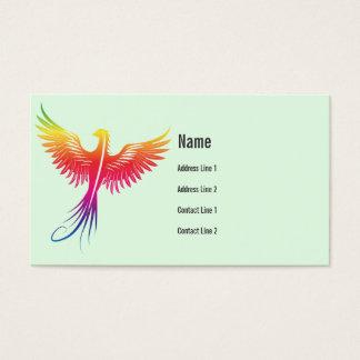Phoenix bird rising Business Card