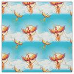 Phoenix Bird Rising Fabric