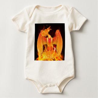 Phoenix Bird Rising From Ashes Baby Bodysuit