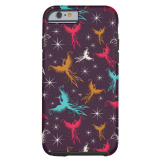 Phoenix Birds Figure Pattern Tough iPhone 6 Case