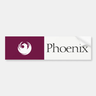 Phoenix city flag bumper sticker