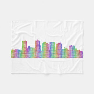 Phoenix city skyline fleece blanket