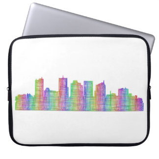 Phoenix city skyline laptop sleeve