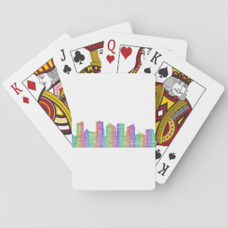 Phoenix city skyline playing cards