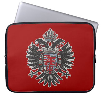 Phoenix Crest Heraldic Ænigma Graphic Design Laptop Sleeve