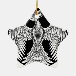 Phoenix Fire Bird Design Ceramic Ornament