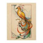 Phoenix Fire Bird Wood Canvas Print